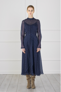 Rola Dress (Polka-Dot Detailed)