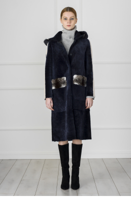MERGIM Navy Double Sided Fur