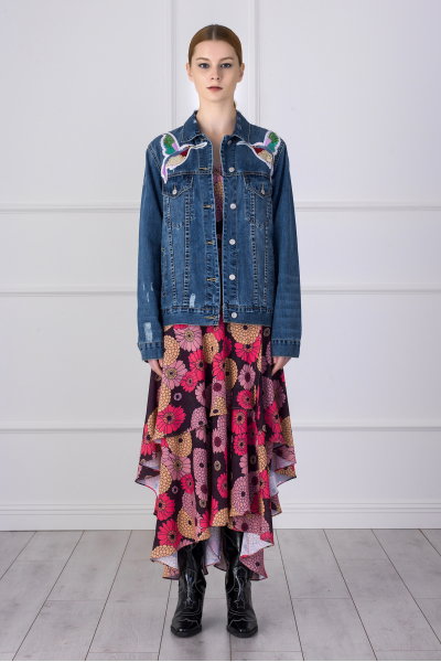 MERGIM Bird Detailed Denim Jacket