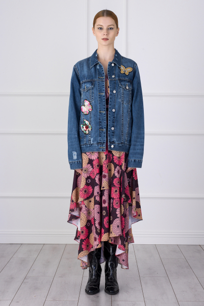 MERGIM Butterfly Detailed Denim Jacket