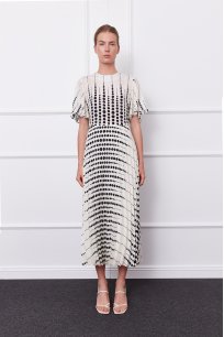 Bella Dress (white/black)