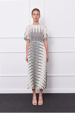 MERGIM Bella Dress (white/black)