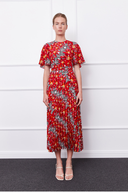 MERGIM Bella Dress (red/black)