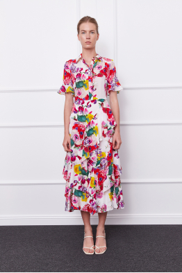 MERGIM Cora Dress (white floral)