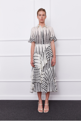 MERGIM Cora Dress (white/black)
