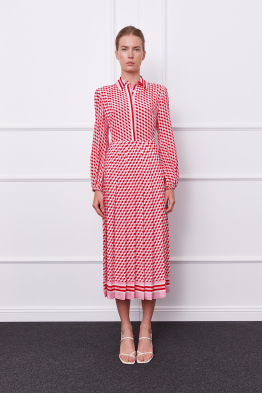 MERGIM Anna Dress (pink/red)