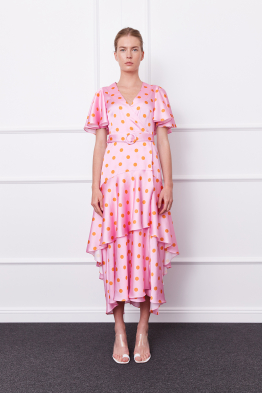 MERGIM Olivia Dress (pink/orange)