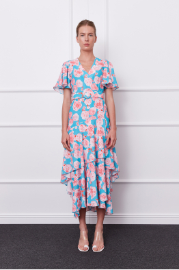 MERGIM Olivia Dress (blue/pink)