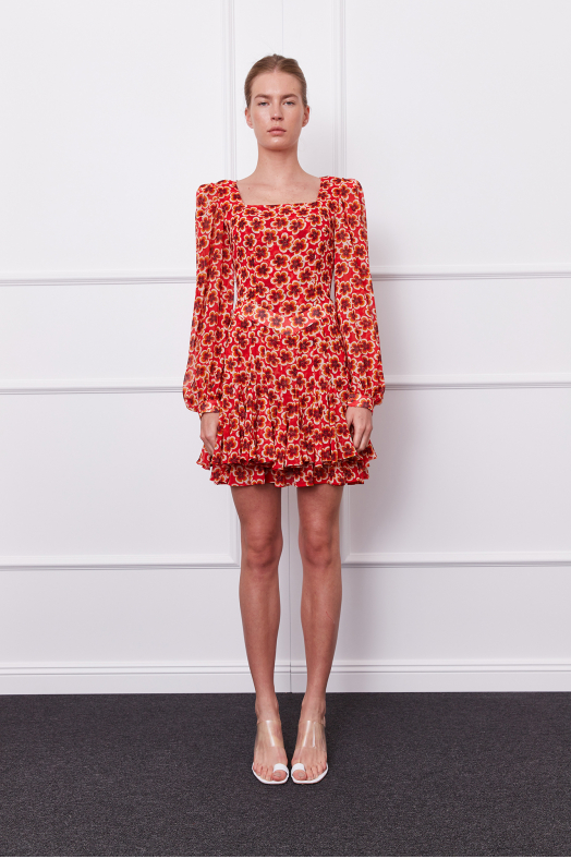 Gila Dress (red/brown)