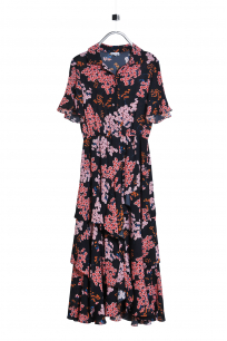 Floral Ruffle Trimmed Dress