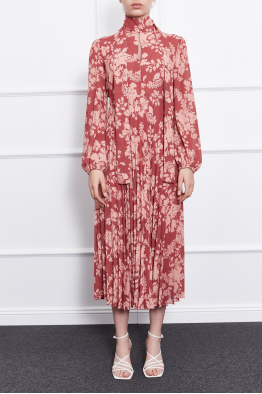 MERGIM Leonie Dress (Burgundy)