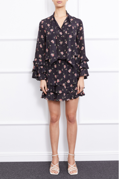 Alina Mini Dress (Black)