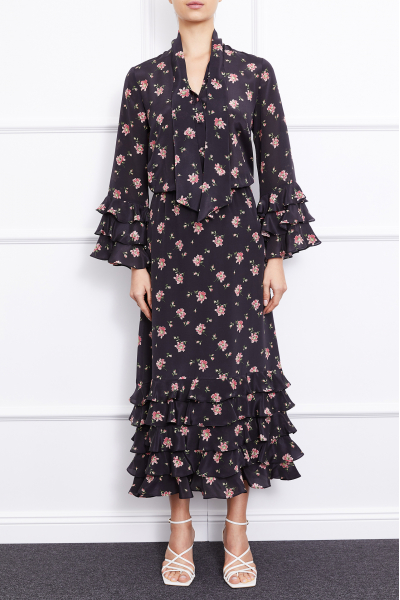Alina Maxi Dress (Black)