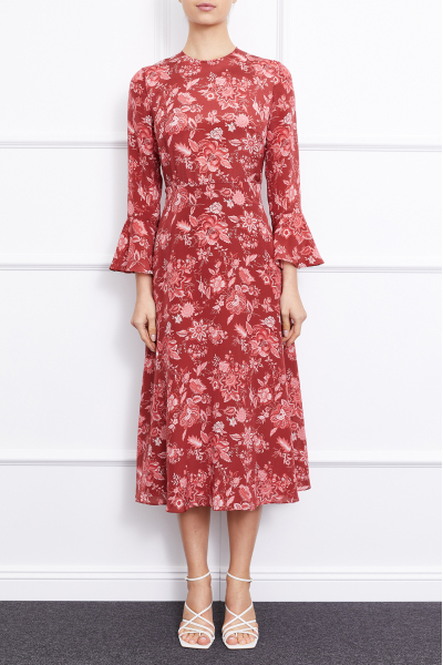 Clarita Dress (Burgundy)