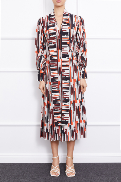 MERGIM Rosie Dress (Geometric Patterned)