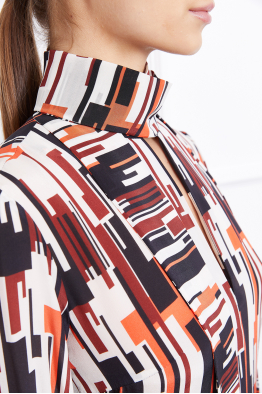 MERGIM Rosie Dress (Geometric Patterned)