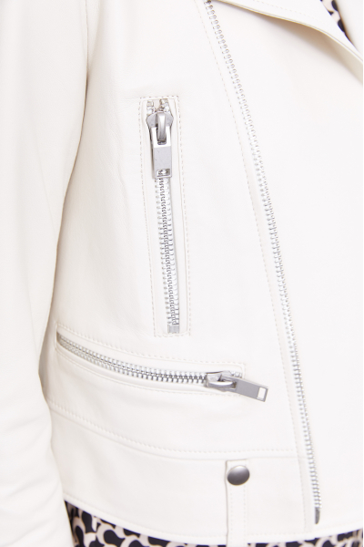 Leather Biker Jacket (White) Leather Biker Jacket (White)