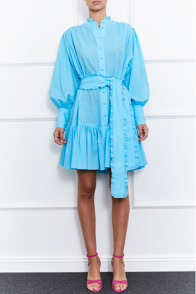 Jasmine Mini Dress (Blue)