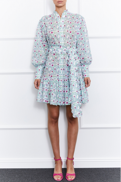 Jasmine Mini Dress (White/Pink)