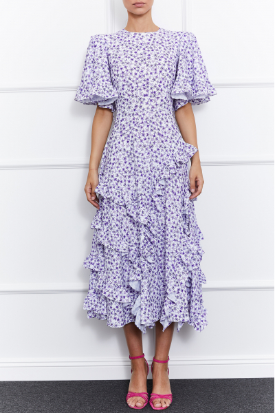 Ulla Dress (White/Purple)