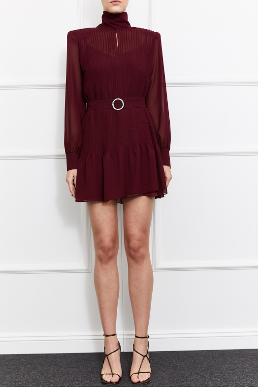 Kelsey Mini Dress (Burgundy)
