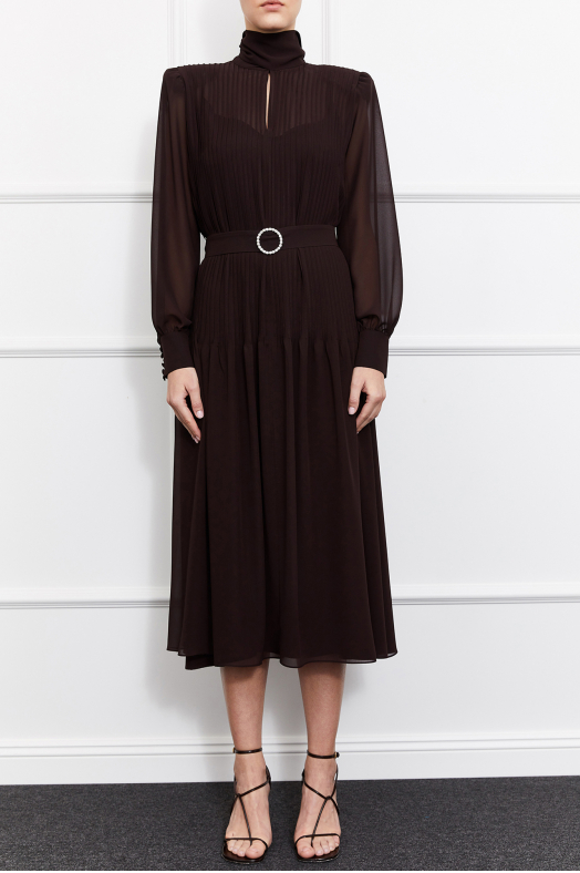 Kelsey Maxi Dress (Brown)