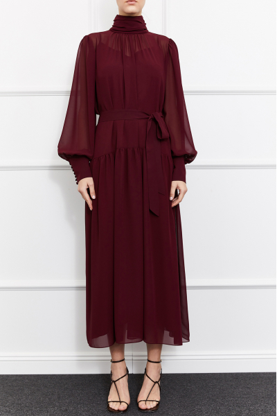 Cara Dress (Burgundy)
