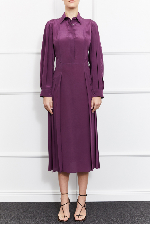 Gigi Silk Dress (Purple)