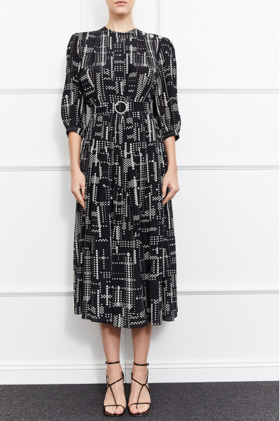 Maya Silk Dress (Black)