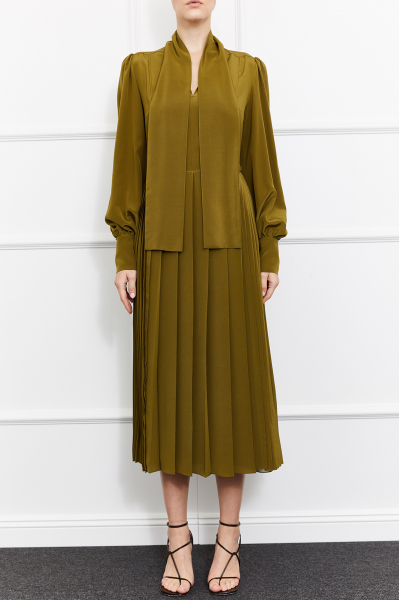 Mimosa Silk Dress (Green)