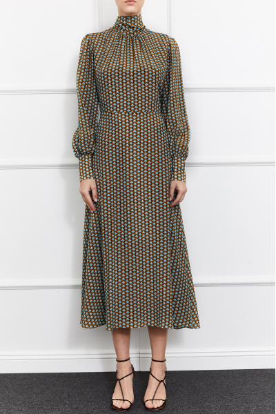 Celine Silk Dress (Multicolor)