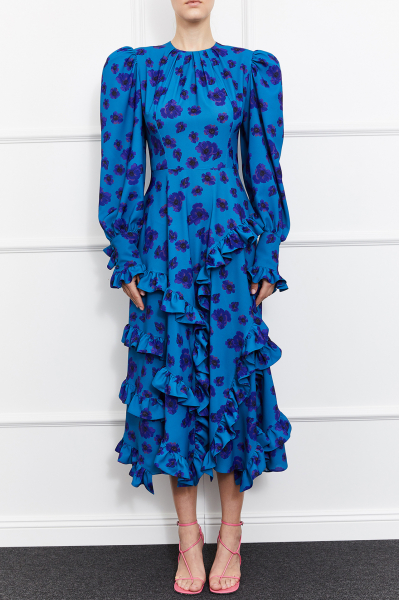 Ulla Long Sleeve Dress (Blue)