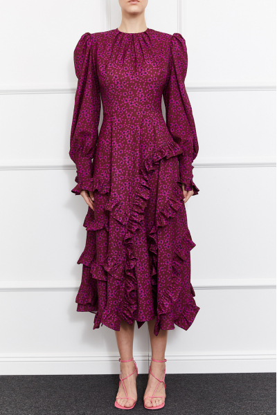 Ulla Long Sleeve Dress (Multicolor)