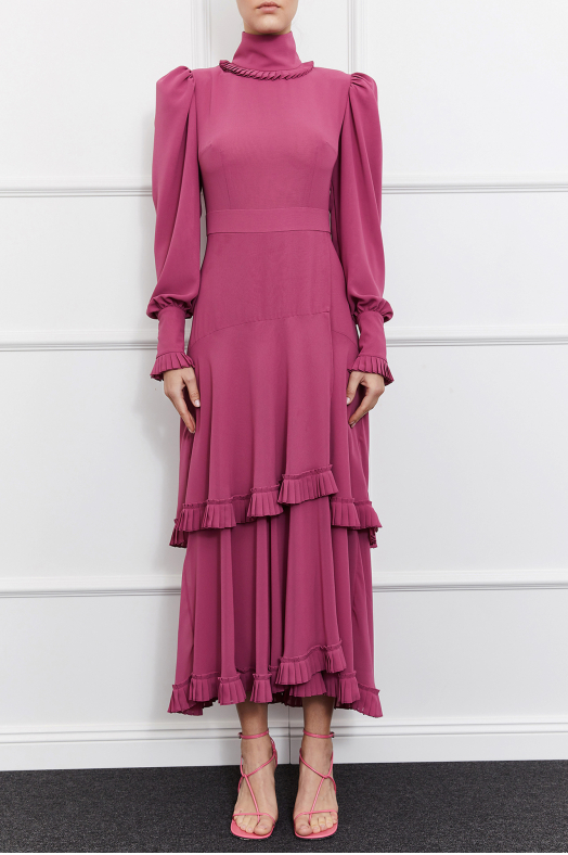 Adriana Turtleneck Dress (Pink)