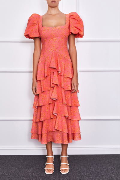 Nara Maxi Dress(orange/pink)