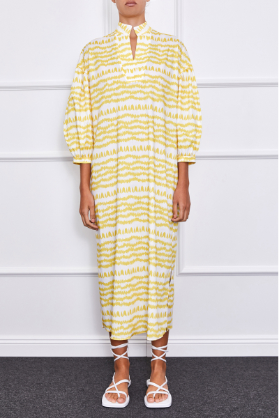Claire Maxi Dress (Yellow/White)
