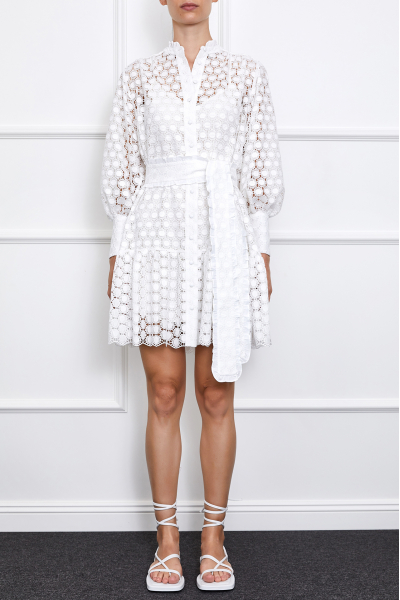 Jasmine Mini Dress (White II)
