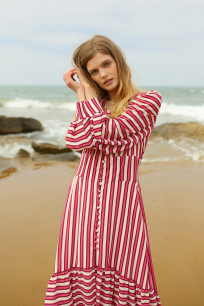 Zoya Pink Striped Dress