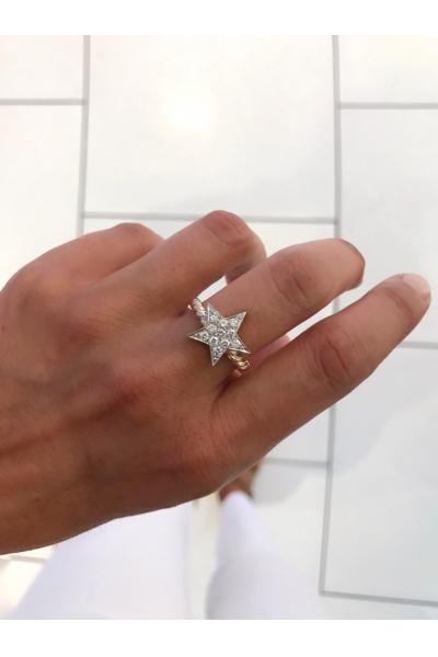 Burma kol atom taşlı yıldız gümüş yüzük Burma kol atom taşlı yıldız gümüş yüzük