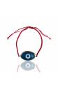 Cam evil eye ipli bileklik