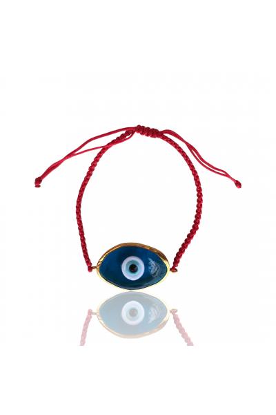 Cam evil eye ipli bileklik Cam evil eye ipli bileklik