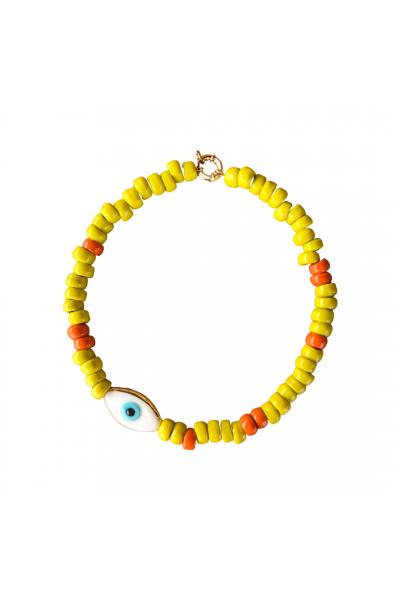 Yellow and eye kolye