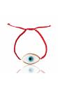 Kırmızı ip cam göz bileklik