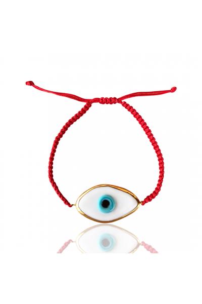 Kırmızı ip cam göz bileklik Kırmızı ip cam göz bileklik