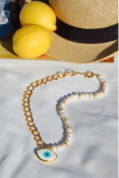 Grace Kelly tatlı su inci kolye Grace Kelly tatlı su inci kolye