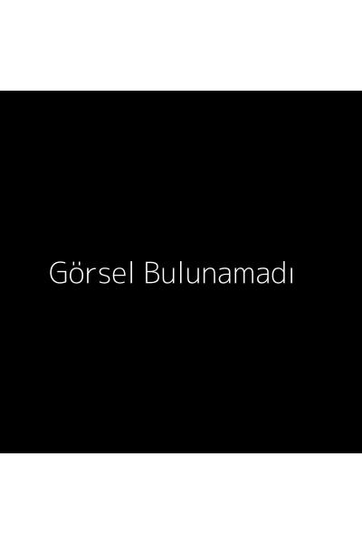 Siyah Beyaz Çizgili Boğazlı Crop Bluz