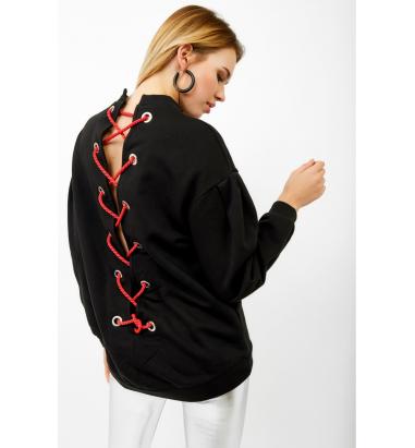 Kuş Gözü Detaylı Sweatshirt