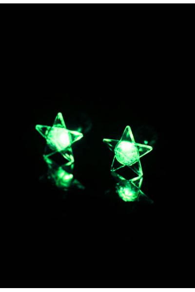 Rave Star Light Led Earrings Rave Star Light Led Earrings