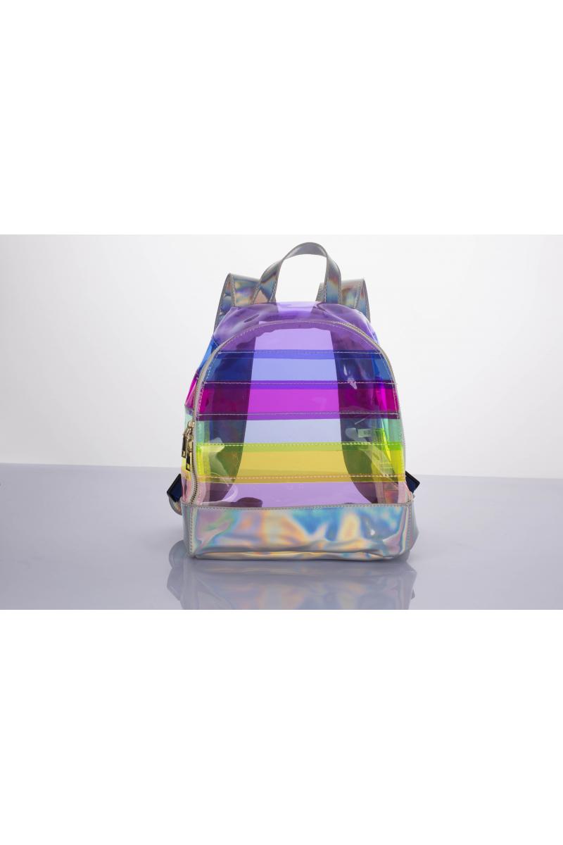 Rainbow Clear Backpack