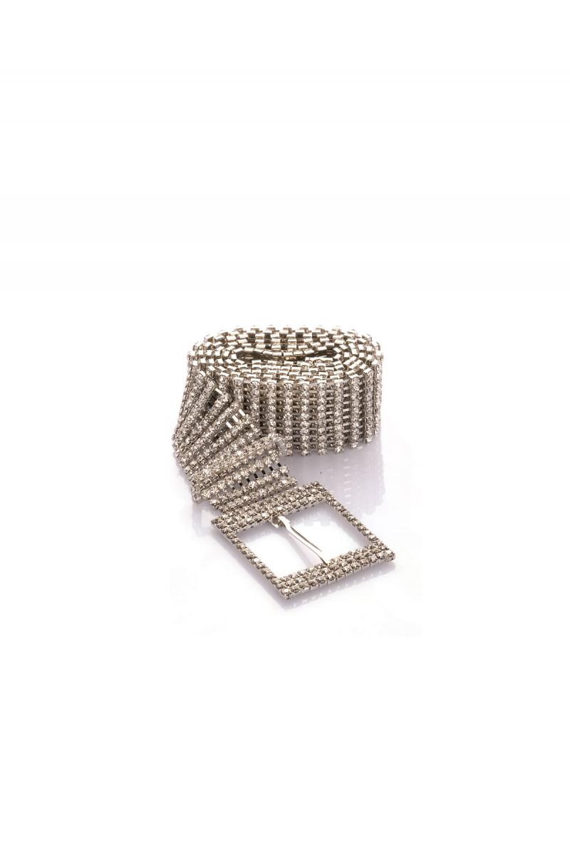 Diamond Misfit Rhinestone Belt Chain